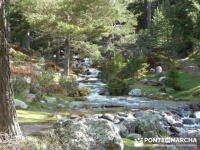 Nacimiento del río Manzanares desde La Barranca; senderismo en cerdeña